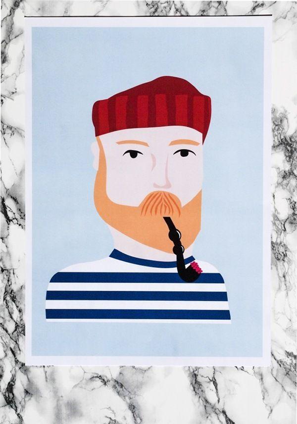 Sailor-print / Size A3