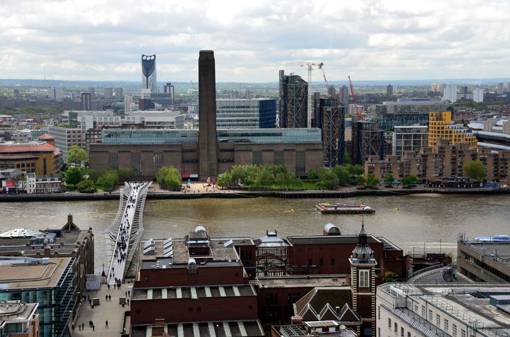 The Tate Modern and the Millennium Bridge - the view George sees as he hangs from Spouts talons.