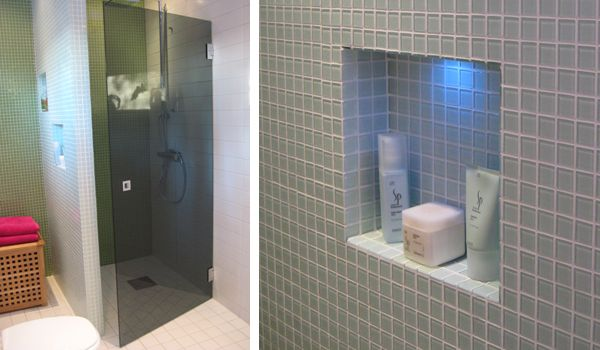 A shower niche is exciting | Sanka