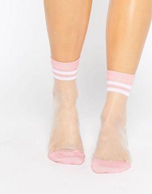 ASOS - Socquettes fines à rayures