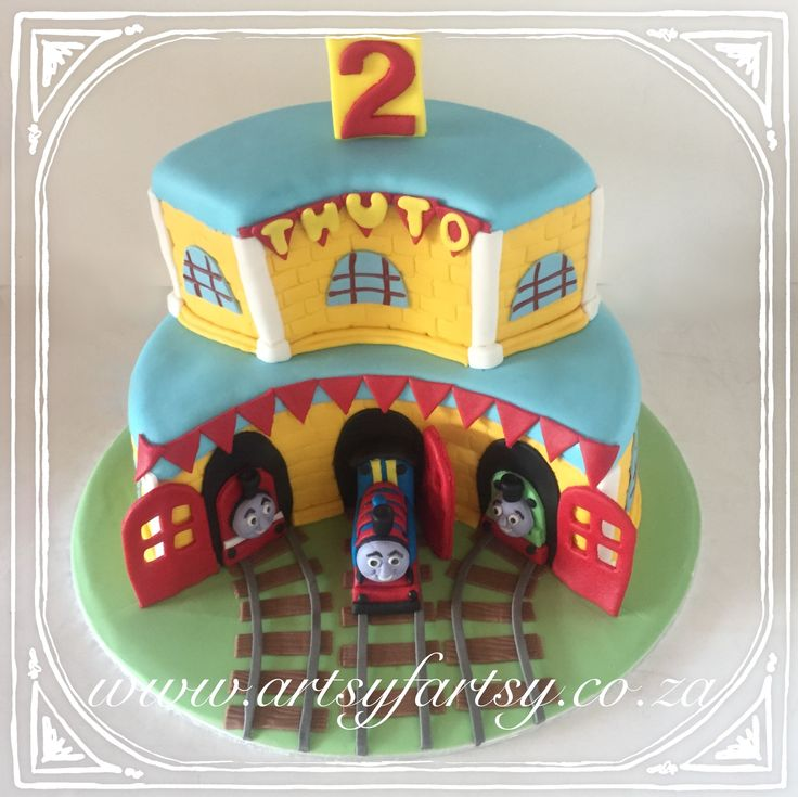 Thomas the Tank Engine Cake #thomasthetankcake
