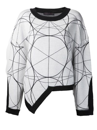 JEAN PIERRE BRAGANZA - geometric pattern sweater 7