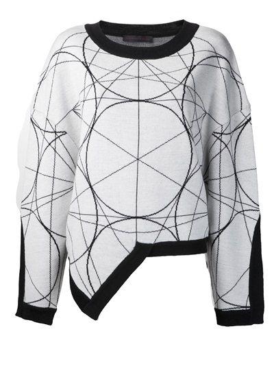 JEAN PIERRE BRAGANZA - geometric pattern sweater 7