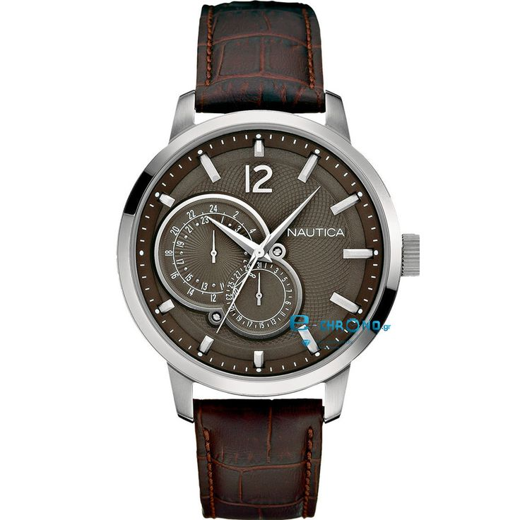 174 EURO ΡΟΛΟΙ ΑΝΔΡΙΚΟ NAUTICA NCT 15 BROWN LEATHER MULTIFUNTIONAL A15048G - e-chrono.gr | Ρολόγια - Κοσμήματα