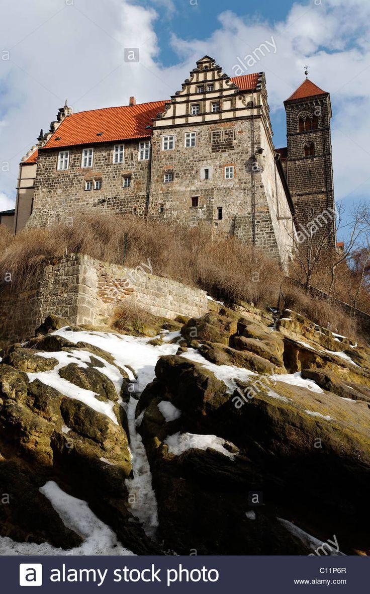 Castle and St. Servatii abbey church, castle hill, Quedlinburg, Harz, Saxony-Anhalt, Germany, Europe - Alamy