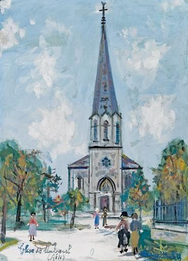 Maurice Utrillo, Eglise de Montrevel (Ain)