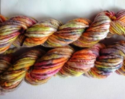 Rainbow Dyed Animal Fibre Yarn