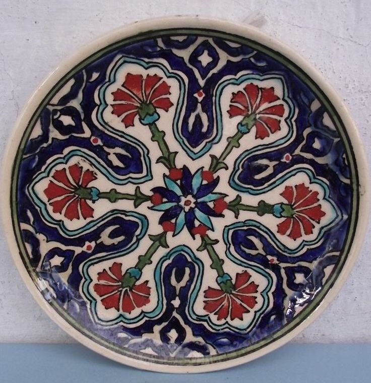 Antique Kutahya Faience Pottery Plate