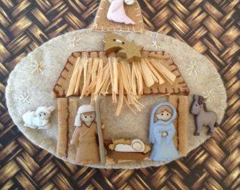 Adornos fieltro Navidad / Santa Claus y muñeco de por CraftsbyBeba