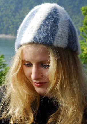 Vertical striped hat