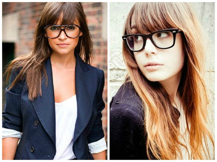 Bangs and Glasses Hairstyle Ideas