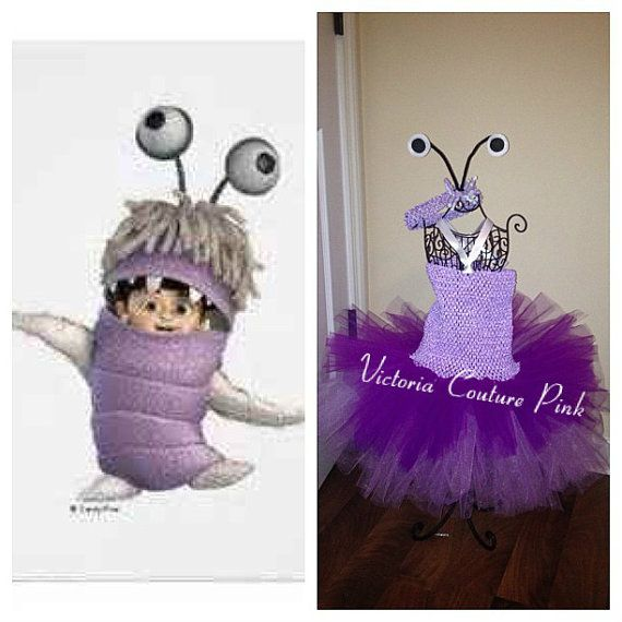 Monsters inc boo inspired tutu dress costume with headband on Etsy, $25.00