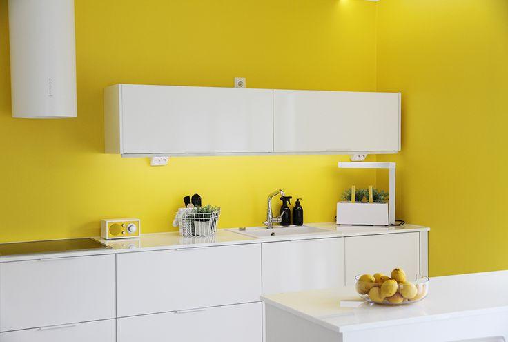 hunajaista keltainen keittio asuntomessut 2015