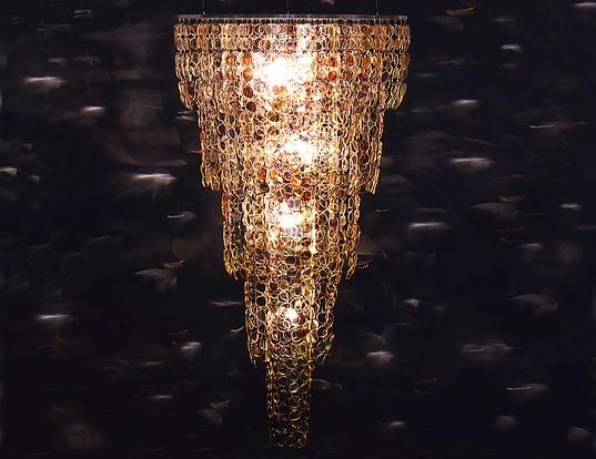 13 best lights out of reclaimed materials images on pinterest spectacle chandelier made from recycled eye glasses mozeypictures Images