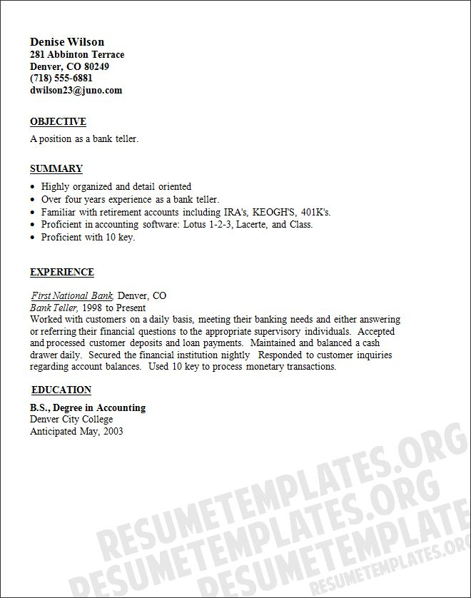 Personal Banker Resume Example   Http://www.resumecareer.info/personal