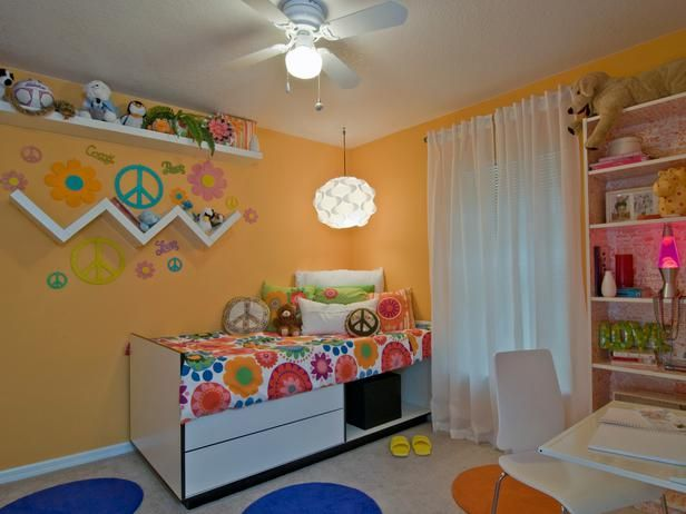 20 best colorful rooms for tweens and teens images on for Bright orange bedroom ideas