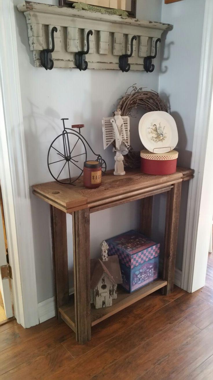 Reclaimed cedar hall table