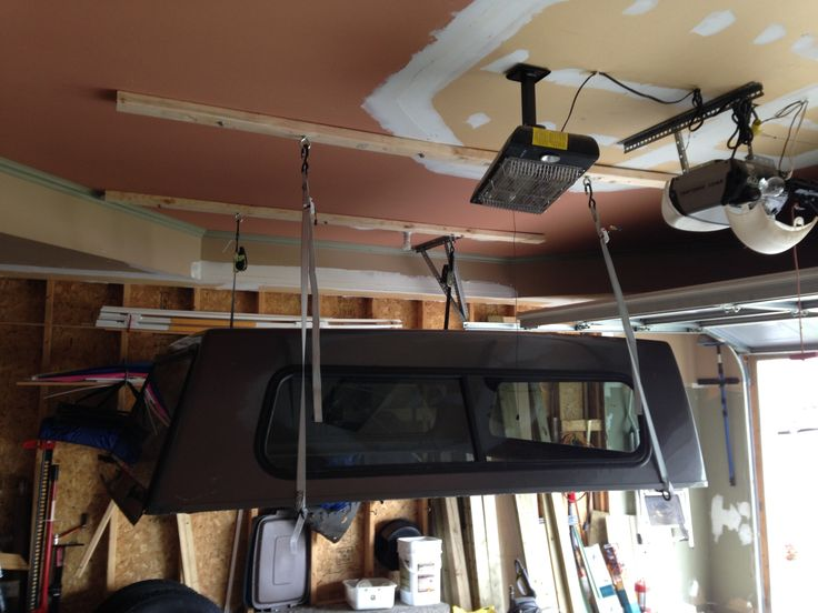 Diy Truck Cap Lift Stage 1 Garage Ideas Pinterest
