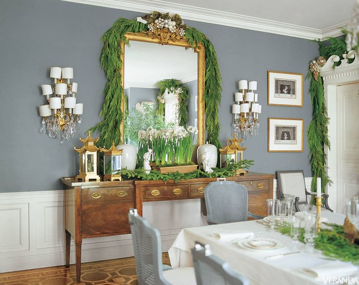 Classy Christmas Party Ideas Part - 46: Cool-Toned Dining Room