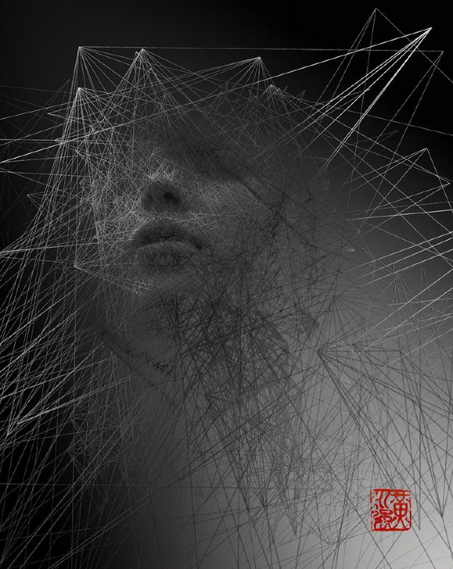 Shattered, Geometric Portraits Of People Forming And Fragmenting | The Creators Project