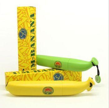 Moda de banana criativo adulto guarda-chuva mini guarda chuva dobrável guarda-chuva local banana guarda-chuva garrafa de vinho