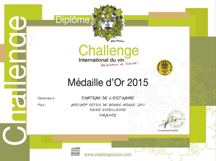 Diplôme Challenge International du Vin