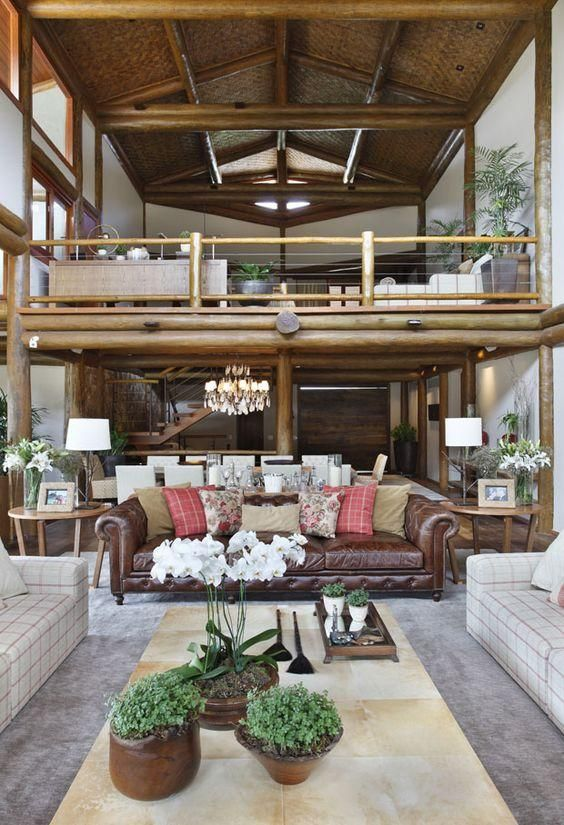 60+ Casas Rústicas: Inspirações E Fotos Lindas. Open SpacesCountry HousesRustic  HousesInterior IdeasInterior DesignLiving ... Part 88