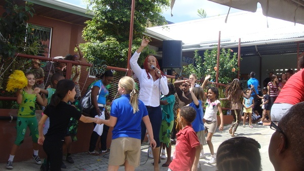 Performed at spent time with the children of the Holistic School in Trinidad
