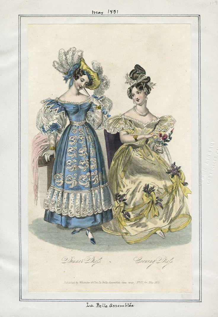 1831 La Belle Assemblee fashion plate via Los Angeles Public Library | Visual Collections