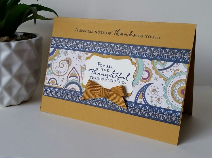Stampin' Up! Demonstrator stampwithpeg – Quick Card Thurday : Petals & Paisley meets Floral Phrases and more! This card is the perfect way to explain why I love Stampin' Up! products so m…