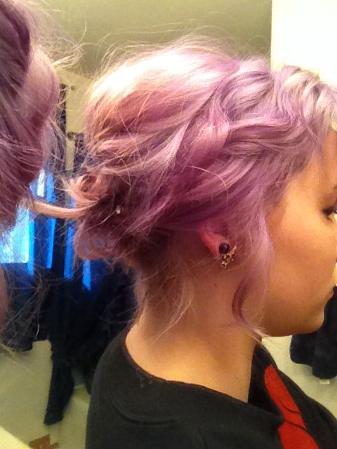 purple prom hair crazy