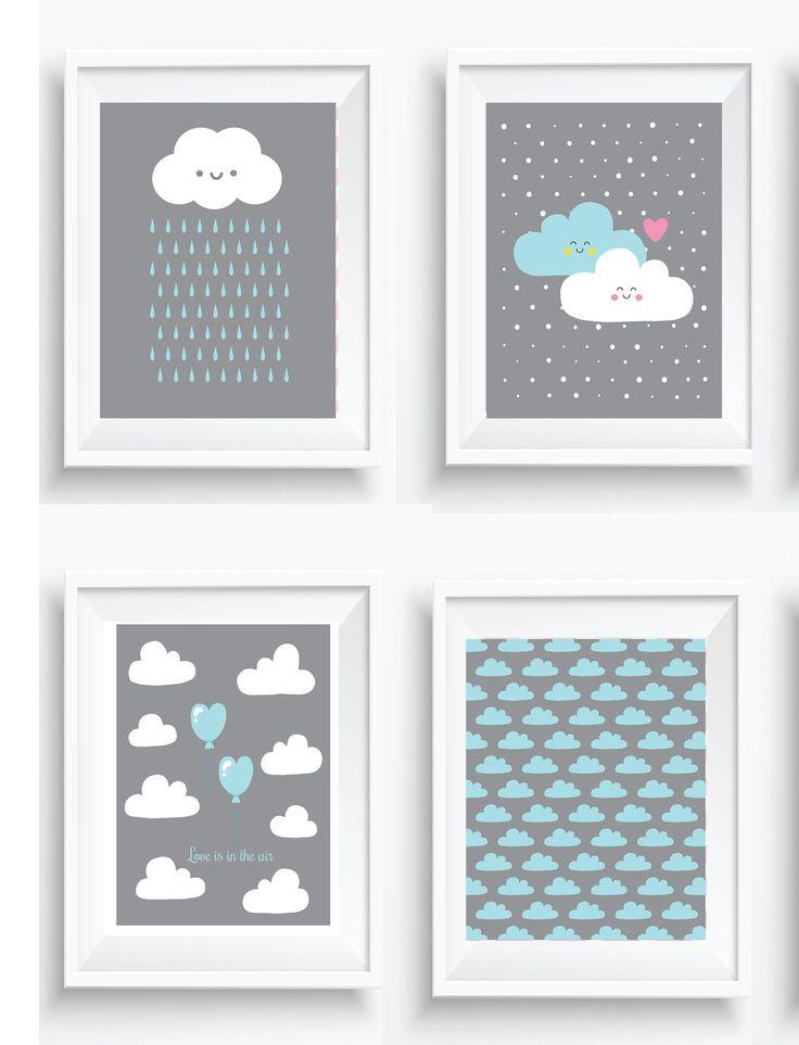 kit-posters-decor-nuvens-baby-quarto
