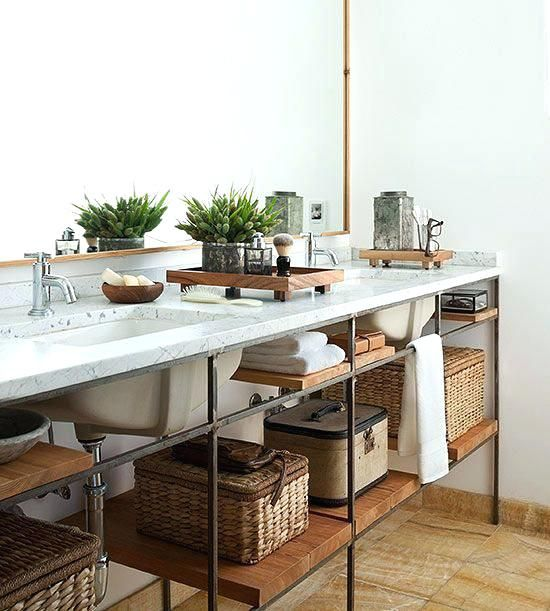 Best 25 industrial chic bathrooms ideas on pinterest - Industrial style bathroom vanities ...