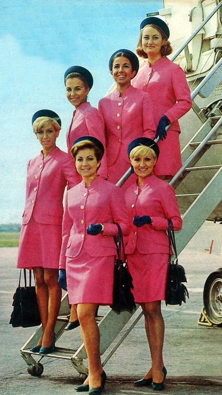 Turkish airlines Cabin attendants in pink. Love the colour.