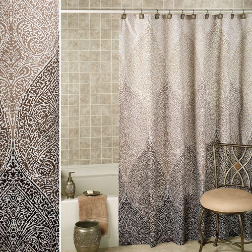Casablanca Shower Curtain Silver