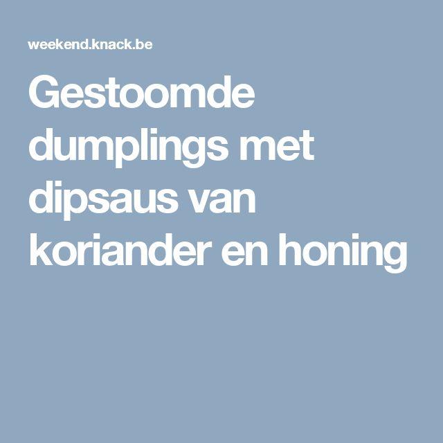 Gestoomde dumplings met dipsaus van koriander en honing