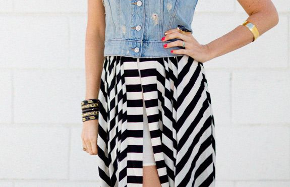 THE STRIPED SKIRT THAT DREAMS ARE MADEOF - a house in the hills