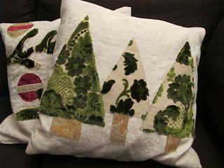 Lankasydän: Jouluaiheinen sohvatyyny / Christmas throw pillow DIY