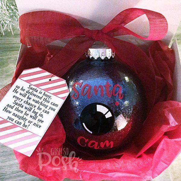 Santa Cam Ornament – Santa Spy Camera – Large Funny Children's Christmas Ornament | Gosh so Posh