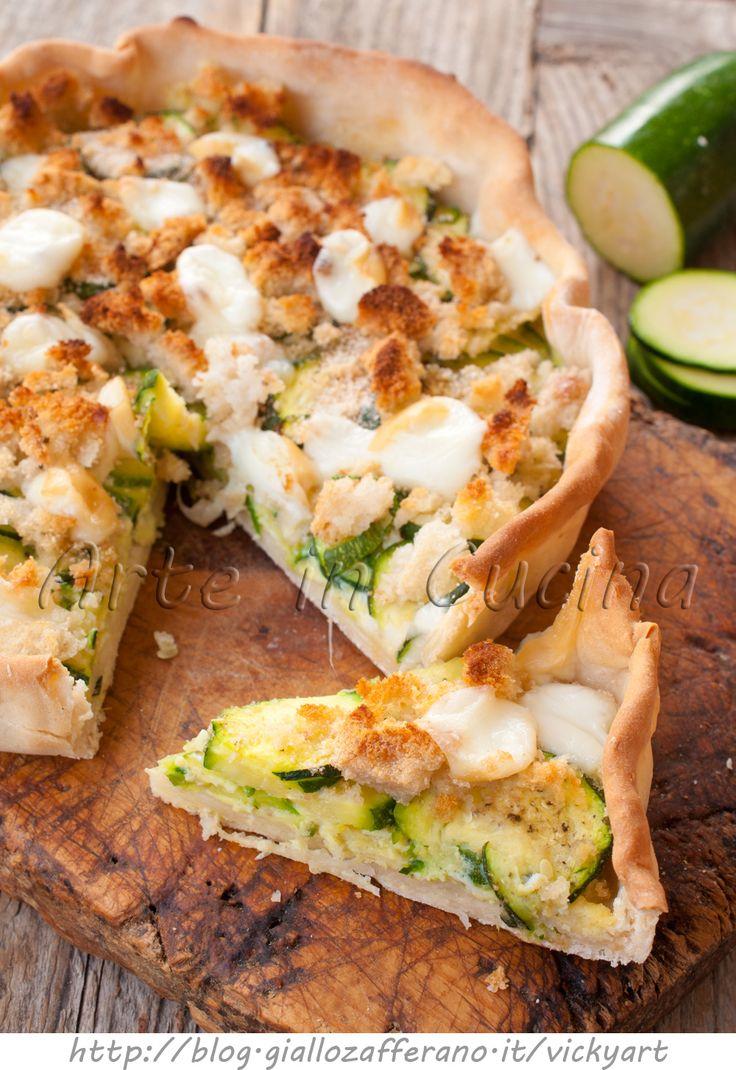 Crostata di zucchine e mollica facile e veloce vickyart arte in cucina
