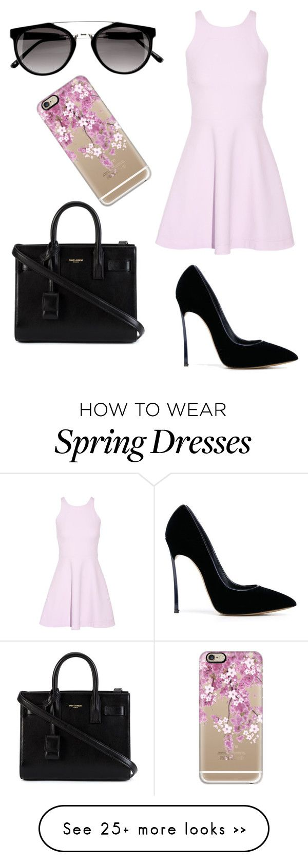 """Başlıksız #677"" by cevyilmaz on Polyvore featuring Elizabeth and James, Casadei, Yves Saint Laurent and Casetify"