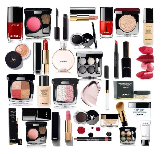 """""""Chanel makeup collage"""" by arbogastolivia ❤ liked on Polyvore featuring beauty, Chanel, Rossetto and makeup"""