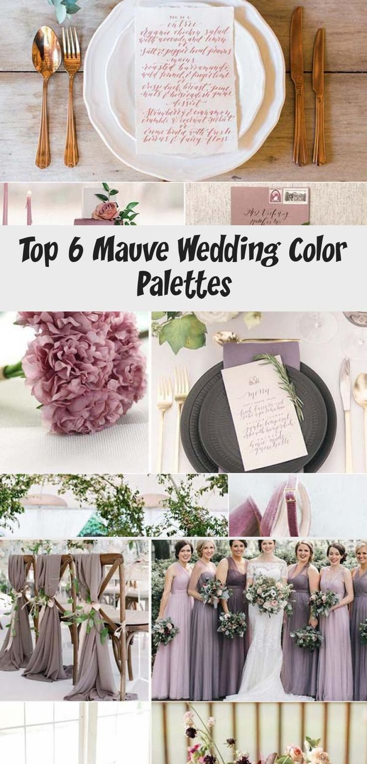 It's not Pantone's color of the year, but Mauve is definitely the lovely and stylish one in the whole purple family. It's more gentle and warm paired with plum, which makes it suitable for almost any wedding theme in any season. With the under... #CheapBridesmaidDresses #BridesmaidDressesDustyRose #BridesmaidDressesMidi #BridesmaidDressesColors #BridesmaidDressesBeach