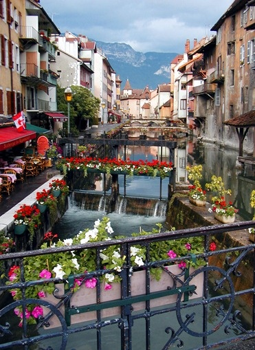 """Annecy the """"Venice of the Alps""""   tucked away in the French Alps.....will visit someday, for sure"""