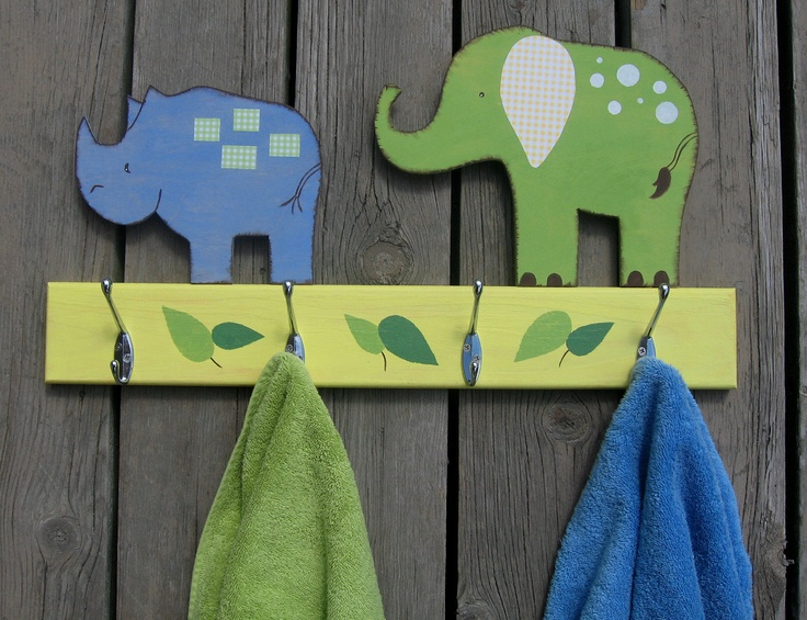 Safari Animals Bathroom Towel Hook Rack Pottery Barn
