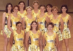 The Australian Netball Team from the year 2000