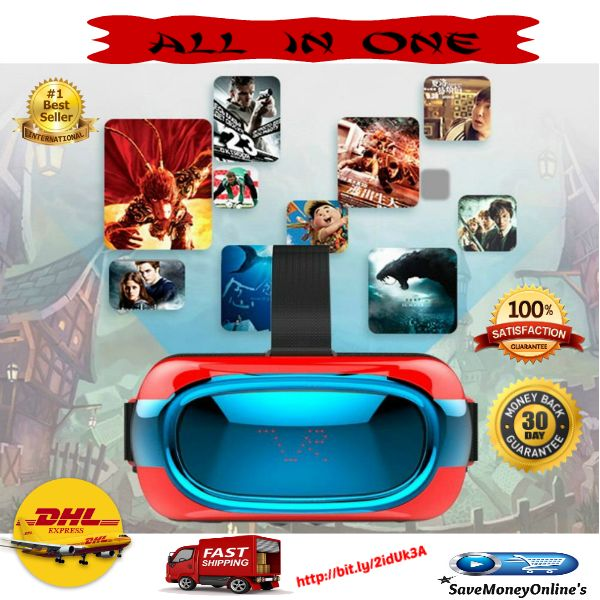 High Quality Smart 3D Virtual Reality Headset Android 5.1 Quad Core 8GB  This Smart 3D Virtual Reality Headset is the newest all in one 3D VR glasses, which will let you enjoy a feast of visual and audio.  Equiped with Android 5.1 system, you c...