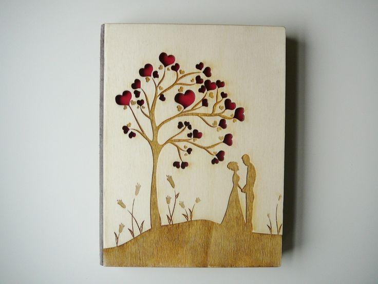 A4 - Individualisierbar! Gästebuch, Hochzeitsbaum von Aniri Art auf DaWanda.com
