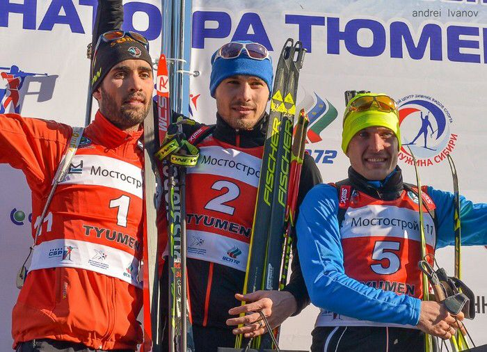Fourcade, Shipulin and Garanichev. Race of Champions 2015.