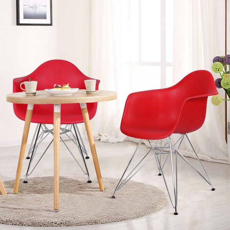 Red Charles & Ray Eames Modern Dining Chairs #livingroomchairs  #diningroomchairs #redchair upholstered dining chairs, modern chairs ideas, upholstered chairs | See more at http://modernchairs.eu